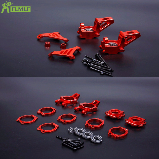 Alloy CNC Front and Rear Wheel Hub Carrier Set Fit for 1/5 HPI ROFUN ROVAN KM BAJA 5B 5T 5SC RC CAR Toys PARTS