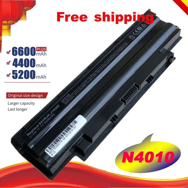 6cells 5200mAh laptop battery for Dell Inspiron N5110 N5010 N5010D N7010 N7110 M501 M501R M511R N3010 N3110 N4010 N4050 N4110