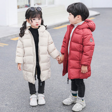2019 winter children's clothing boys and girls long jacket children's thick jacket warm jacket suitable for cold winter