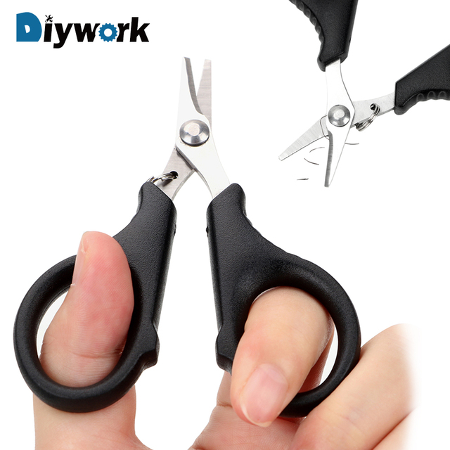 DIYWORK Fishing Pliers Tools Multifunction Fishing Scissors Pliers Hook Remover Braid Line Lure Cutter Fish Use Pincers