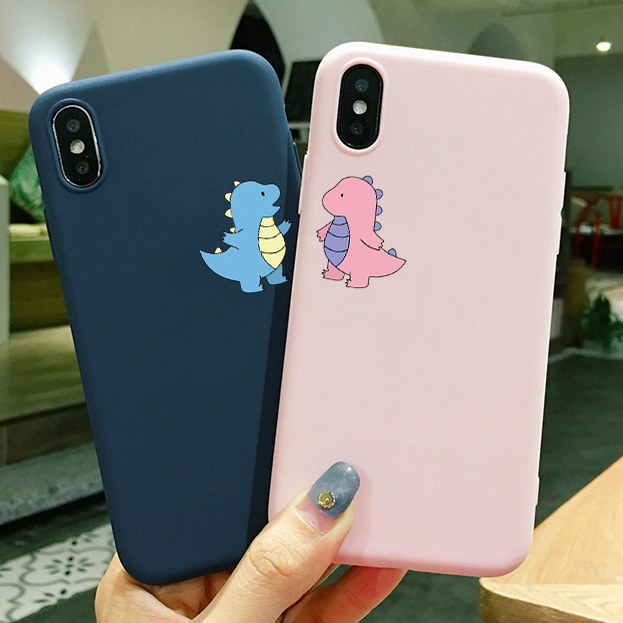 Cute Cartoon Phone Case For iPhone 11 Pro XS Max X XR For iPhone 5 5S SE 6 6S 7 8 Plus Cover Soft Silicone Candy Case Coque