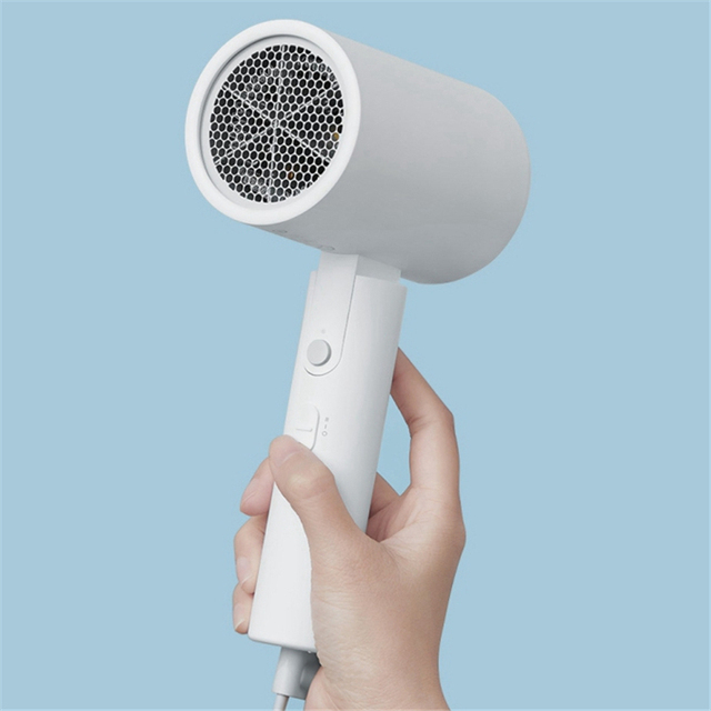 Electric Hair Dryer Negative Ion 1800W Quick Dry Low Noise Hairdressing Barber Salon Tools Portable Folding Travel Handle