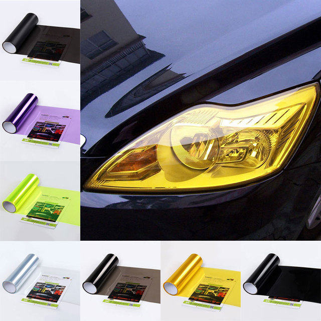 30cm*60cm Taillight Color Film Car Light Film 30CM Protective Fog Light Film for Headlight