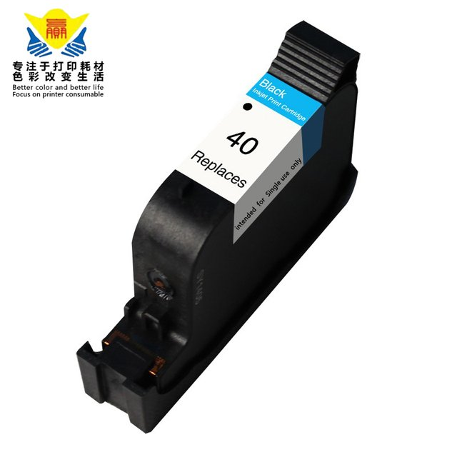 JIANYINGCHEN Remanufactured ink cartridge replacement for HP40 (51640A) for Deskjet 1200 230 330 350 430 450(2pcs/lot)