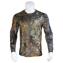 A Generation of Fat Camouflage Hunting Long-Sleeve T-shirt Wicking Antibacterial Deodorant Breathable Camouflage Training Suit