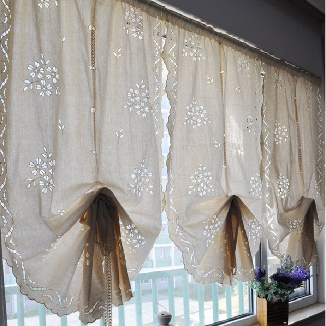 Transparent Beige White Sculpture Drape Curtain Window Screening Roman Curtain for Living Room Bedding Blinds 82*170/230/245cm