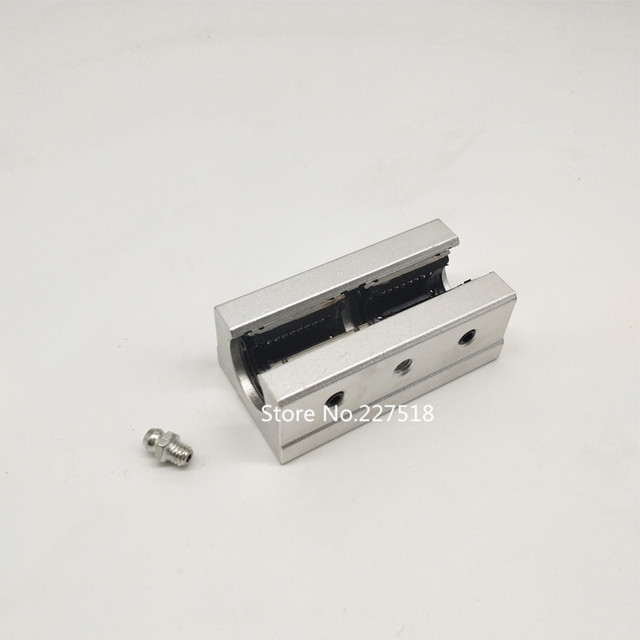 8pcs SBR12LUU 12mm aluminum block 12mm Linear motion ball bearing slide block match use SBR12 12mm linear guide rail