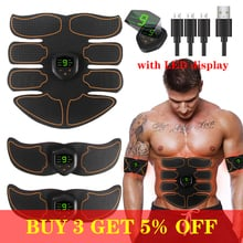 EMS Wireless Muscle Stimulator Trainer  Abdominal Training Electric Weight Loss Stickers Body Slimming Belt Unisex
