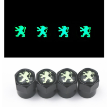 Luminous 4PCS/set Auto Accessories Wheel Tire Valve Stem Caps Cover For Peugeot 308 408 508 RCZ 208 3008 2008 Car accessories