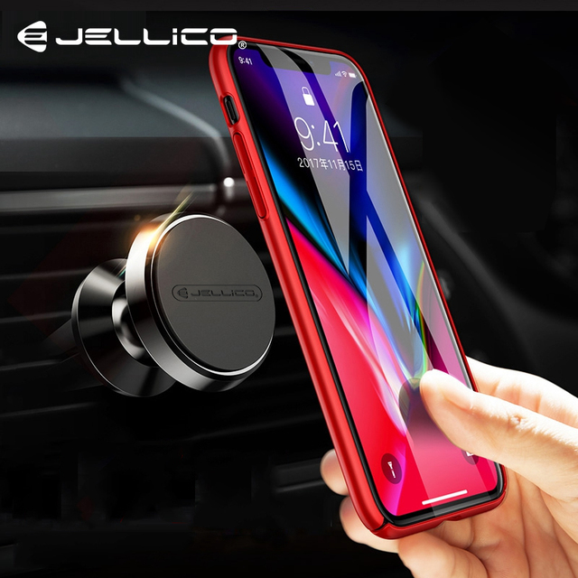 Jellico Magnetic Car Phone Holder Air Vent Clip Mount Magnet Mobile Stand in Car For iPhone Samsung Mobile Phone Support GPS