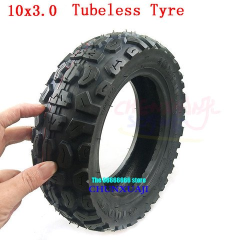 10 Inch Rubber Tyre Tubeless 10x3.0 10x3.0-6 Tire For Electric Scooter Wheel