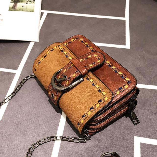 Vintage Fashion Matte Square Crossbody bag 2019 New Quality PU Leather Women's Designer Handbag Chain Shoulder Messenger Bag