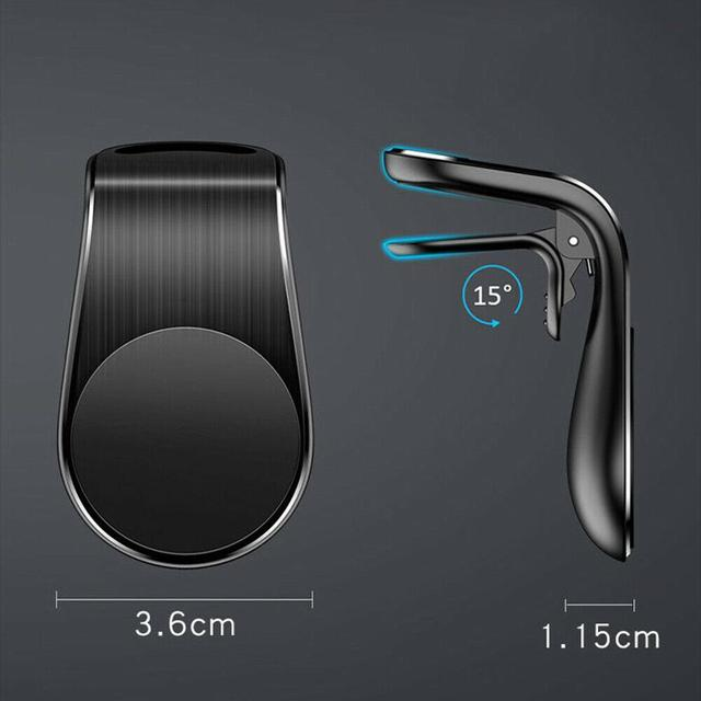 Car Magnetic Mobile Phone Holder L Shape Air Vent Mount Stand in Car GPS Magnetic Mobile Phone Holder For iPhone X Samsung S9