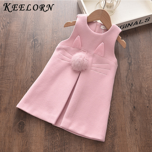 Keelorn Girls Lace Clothes Autumn 2020 New Fashion Kids Dresses Sleeveless Appliques Princess Dress 3-7Y Girls Dresses in Kids