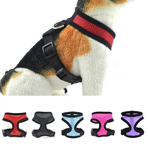 Dog Puppy Walk Collar Soft Mesh Safety Strap Vest Adjustable Pet Control Harness