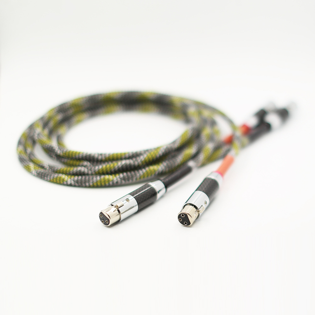 1 Pair HIFI XLR interconnect Cable Hi-end XLR Male to Female Audio Cable with XLR Silver-plated Plug Connector