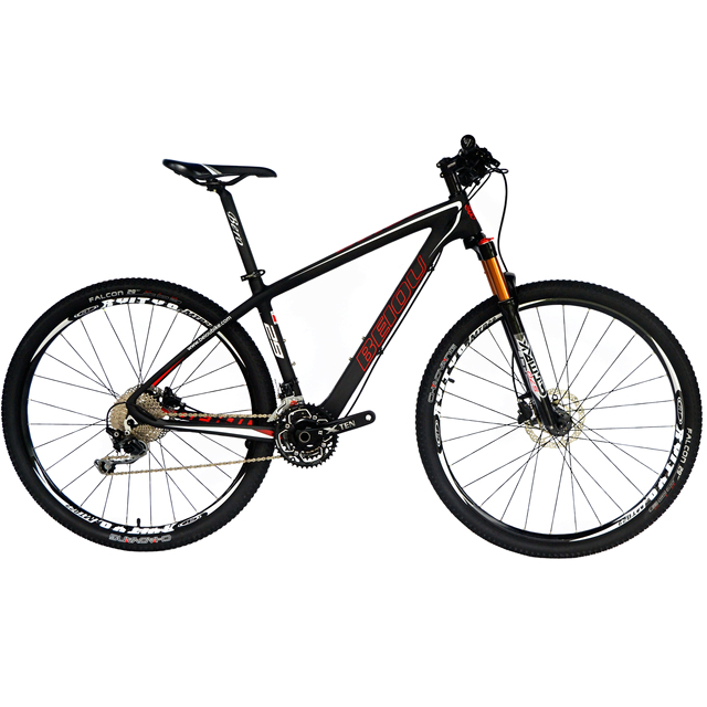 "BEIOU Carbon Fiber Mountain Bike 29"" Hardtail Bicycle 2.1"" Tires 30 Speed XC/Trail MTB 29er T800 Ultralight Frame Matte 3K CB029"