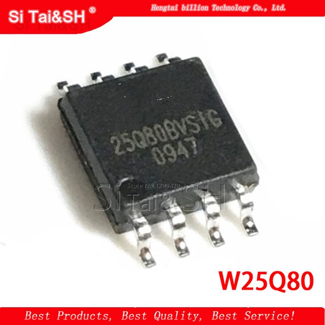 10pcs/lot W25Q80BVSIG 25Q80BVSIG 25Q80BVSSIG W25Q80 BVSIG 25Q80 SOP8 Chip is 100% work of good quality IC