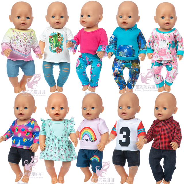 Underwear Wear For Baby Reborn Dolls 43cm 18 Inch Doll Clothing Accessories Gift