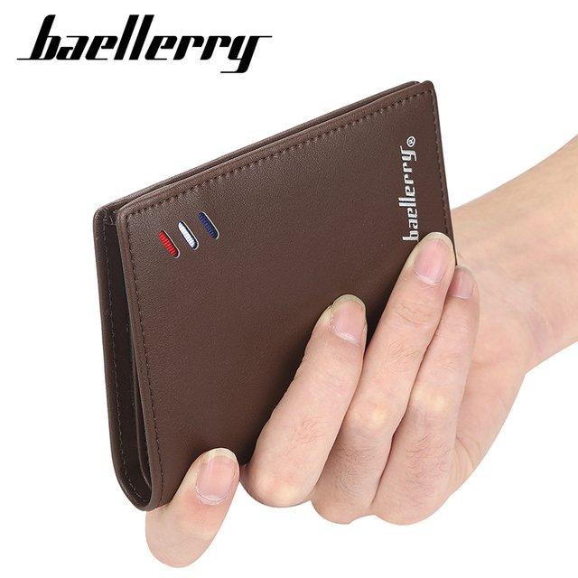 Baellerry Luxury Brand Wallet PU Leather Men Wallets Short Male Purse Card Holder Wallet Men Fashion High Quality
