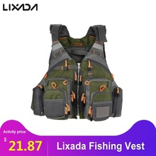Lixada Fishing Vest Men Outdoor Breathable Safety life vest fly fishing jacket Waist coat Vest Utility Floating men's clothing