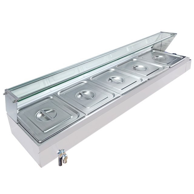 Commercial Full Stainless Steel Table Restaurant Soup Bain Marie Top Electric Bain Marie For Food Warmer