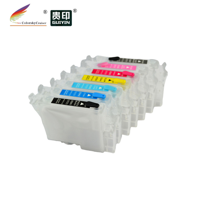 (RCE-331-336) refillable refill inkjet ink cartridge for Epson T0331 - T0336 33 Stylus Photo 950 960 bkcmylclm