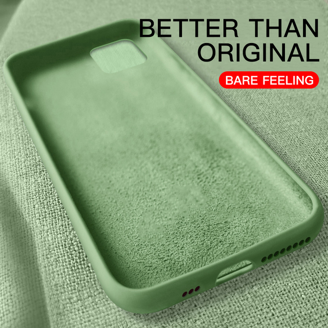 Original Liquid Thin Soft Case For iPhone X Xs 11 Pro Max XR Official Candy Color Silicone Cover Capa For iPhone 7 8 6 6s Plus