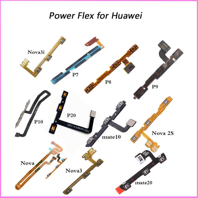 For Huawei P7 P8 P9 P10 P20 Lite Pro mate 20 10 lite nova 3 Replacement Parts On Off Volume Up Down Button Key Power Flex Cable