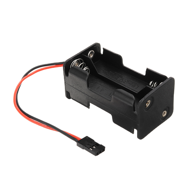 AA Size 2 Slot Power Battery Storage Case Box Holder For RC Car/Plane Models Receiver 4* AA Battery Case Box Compatible JR 3 Pin