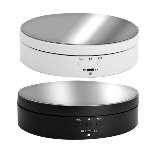 Top Mirror Electric Rotating  Jewelry Display Stand Base Jewelry Anime Model Organizer Turntable Jewellery Packaging Display Box