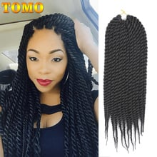 "TOMO 16 Colors 12Strands 12"" 18"" Senegalese Twist Braiding Hair Extensions Ombre Synthetic Crochet Braids Hair for Women"