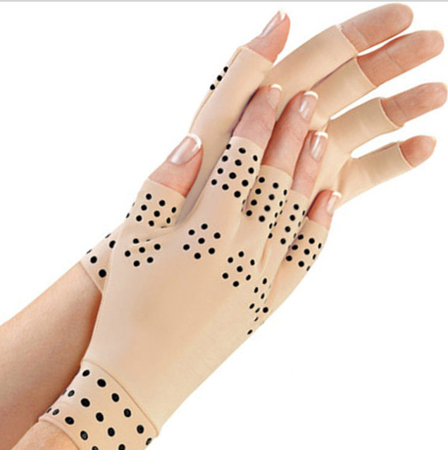1 Pair Magnetic Therapy Fingerless Gloves Arthritis Pain Relief Heal Joints Braces Supports Health Care Tool dropshipping