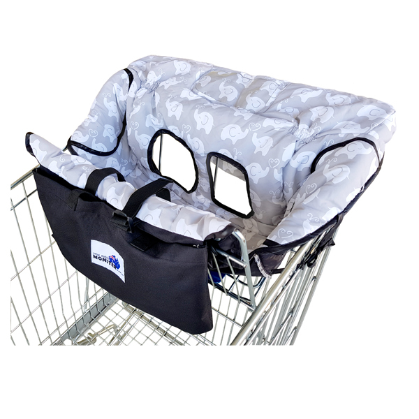 Owl and Elephant Trolley Cover for baby with smartphone cover/Shopping cart cover for infant and toddler/kids Highchair cover