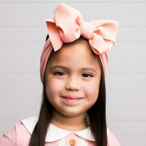 Oversized Bows Baby Girl Big Bows Baby Toddler Girl Big Bow Headbands Vintage Stripes Messy Head Wrap
