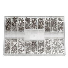 500pcs Watch Back Cover Screw Stainless Steel Screw Cross Boxed Slotted Screws And H Screws18 Sizes Watch Repair Tool Kit