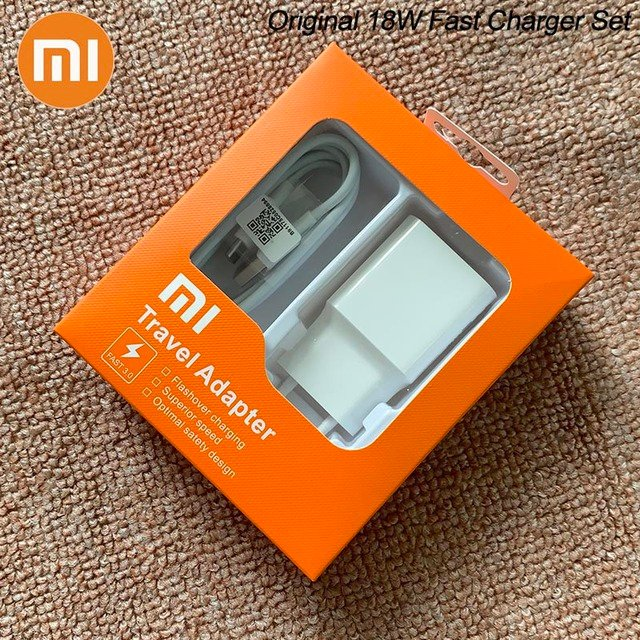 MDY-08-EI Original Xiaomi USB Charger 18W EU Adapter USB 3.0 TYPE C Data Cable For Mi 5 6 8 9 Redmi Note 7 8 Pro F1 A2 A3 Lite - buy inexpensively