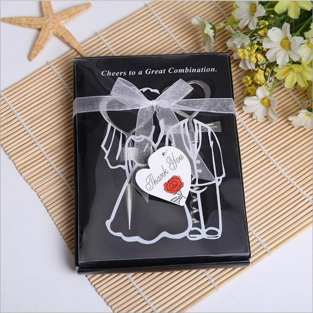 50sets Cheers to a Great Combination Wine Stopper&Bottle Opener Set in Black Gift Box  Wedding&Bridal Shower Favors