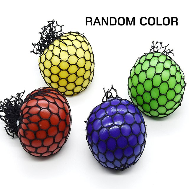 Cute Stress Relief Ball Novetly Squeeze Ball Hand Wrist Exercise Antistress Slime Grape Ball Toy Funny Gadgets Toys