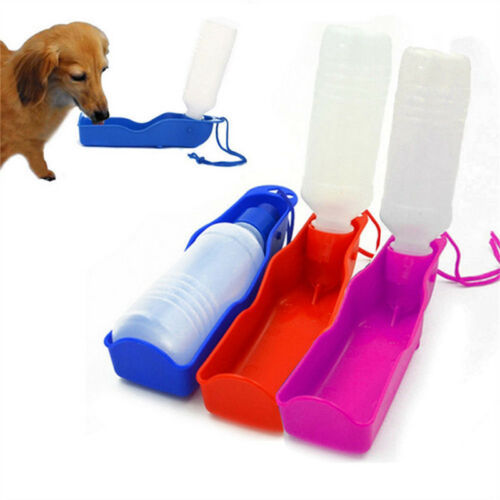 Pet Dog Cat Portable Plastic Feeding Bowl Travel Water Bottle Dispenser Feeder Dog Carriers