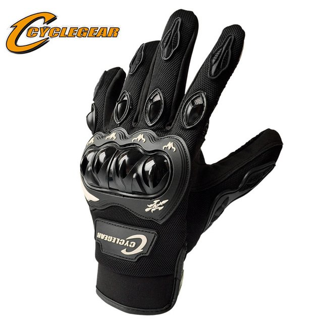 Joint Protection Motorcycle Full Finger Glove Screen-Touch Motocross Off Road Gloves ATV Racing Guante CYCLEGEAR CG666