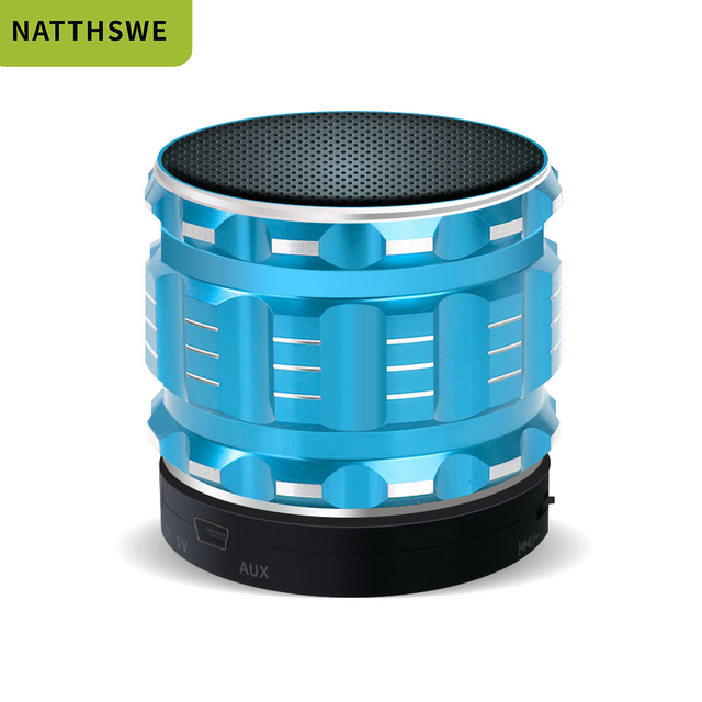 NATTHSWE Bluetooth Speaker Metal Wireless Mini Smart Portable Audio For Mobile Phones Tablets PC Outdoor Home Support TF card