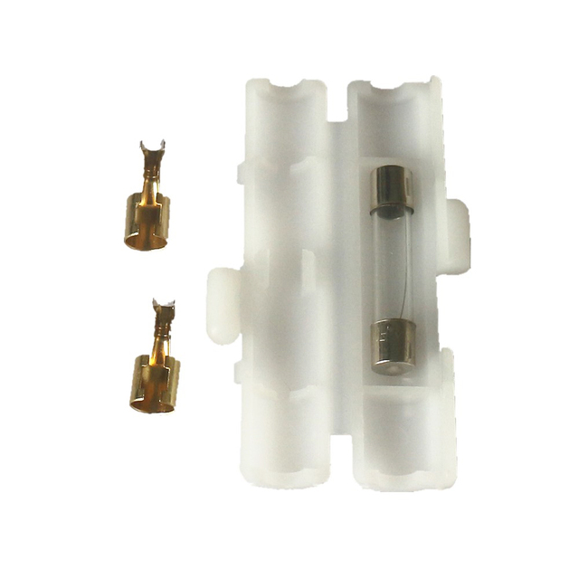 10pcs Radio Power Cable Cord Fuse+Fuses Box Jacket Terminals Connector For Yaesu ICOM Kenwood Repair Accessories