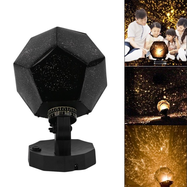 Star Sky Projector Romantic Cosmos Night Lamp LED Projection Lamp Bedroom Decoration Portable Home Decor Kid's Gift