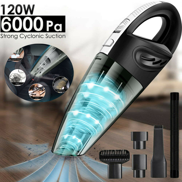 120W Wireless Car Vacuum Cleaner Portable Handheld USB Cordless Wet/Dry Use Rechargeable Home Car Vacuum Cleane