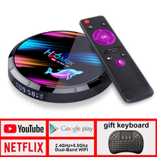 ТВ-бокс H96 max Android TV Box Netflix Youtube HD 8K LEMADO TV Box Android 9,0 Google Voice Assistant H96 max X3 Smart TV Box