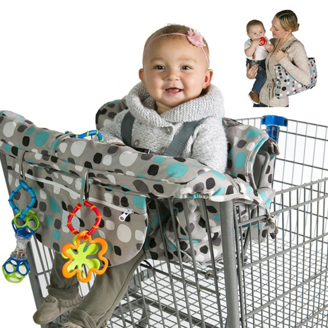 Multi-function Baby Foldable Shopping Cart Cover Cushion Infant Trolley Chair Seat Mat Seat Cover  Safety Seats For Kids