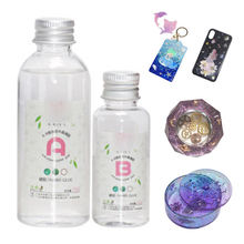 A/B Crystal GlSolvent resistance Crystal Glue No whitening Mixed Epoxy 2.5:1 volume Accessories Tool Transparent Clear Durable