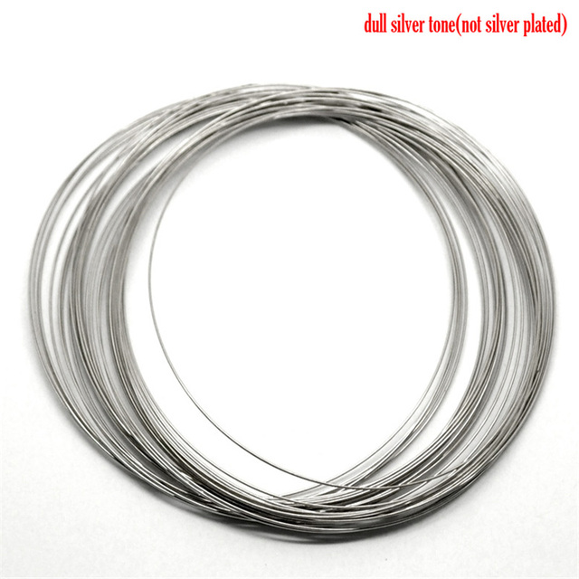 200 Loops Doreen Box Memory Beading Wire Steel Silver Color 100mm-105mm Dia.  For DIY Bracelet Jewelry Making (B18223)