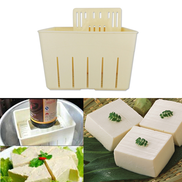 Cooking Utensils DIY Plastic Tofu Press Mould Soybean Curd Tofu Making Box Mold Kitchen Cooking Tool Set Homemade Cheese Mold